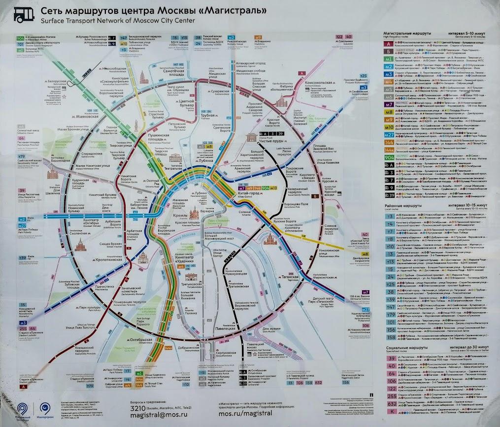 transporte público en Moscú