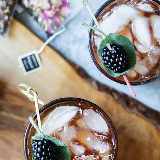 Sparkling Blackberry Tea Cocktail Recipe