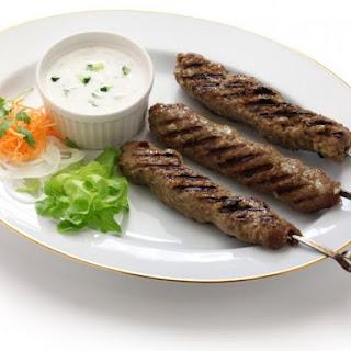 Persian Lamb And Beef Kebabs.