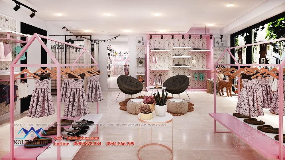 thiết kế shop thời trang cho trẻ em