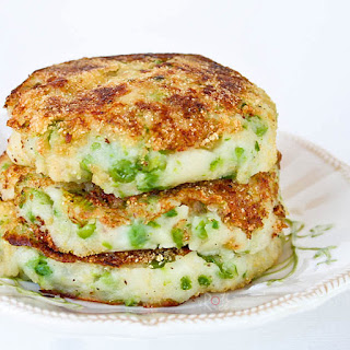 Green Peas Mashed Potato Pancakes.