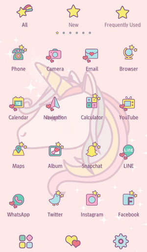 Wallpaper Unicorn Dream Theme screenshot