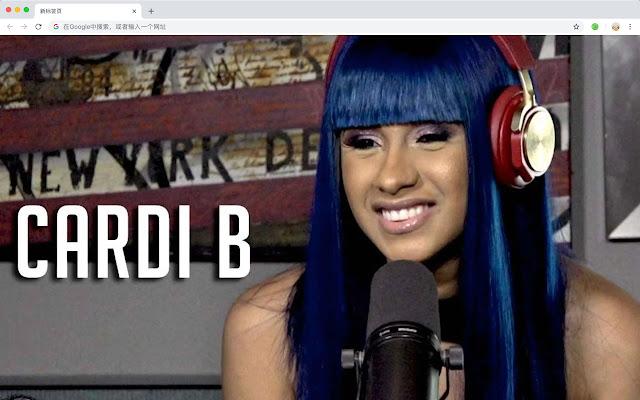Kadi B New Tab Page HD Pop Stars Theme