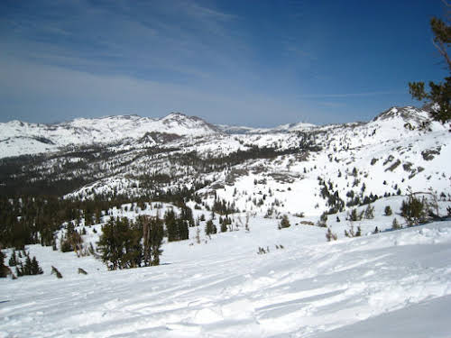 What to Do in Lake Tahoe in the Winter // Backside of Kirkwood Ski Resort California