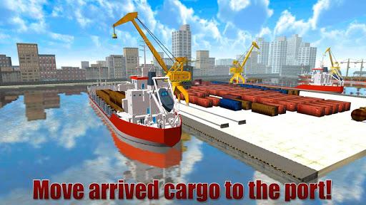 Cargo Crane Simulator 3D: Port