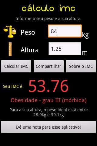 Cálculo IMC screenshot 5