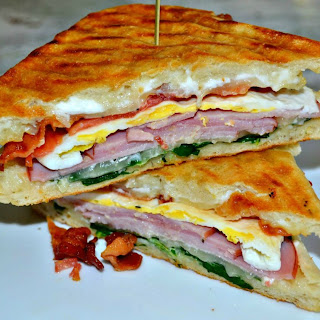 Loaded Breakfast Panini.
