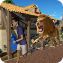 Angry Lion Rampage: City Attack,Simulator 3D icon