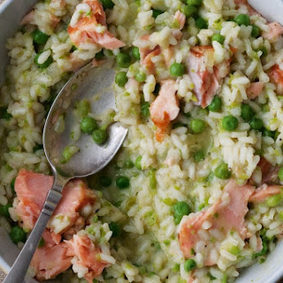 Hot-smoked Trout, Pea And Lemon Risotto