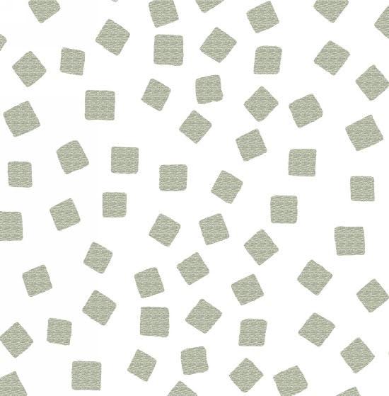 Razzmatazz Foil Prints Tossed squares - Silver (11161)
