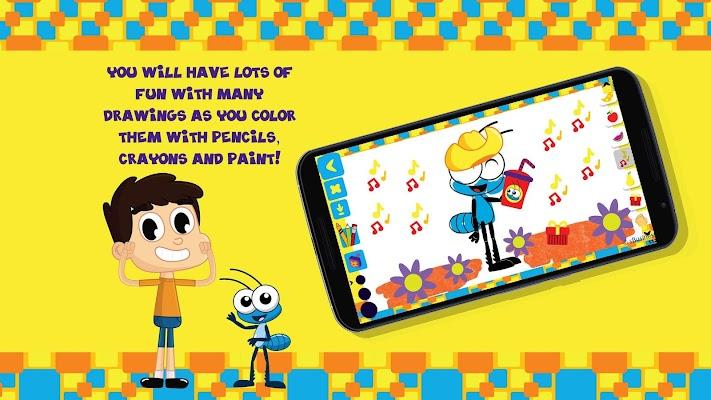 Kids coloring book - Bob Zoom - screenshot
