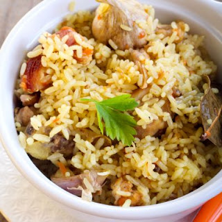 Healthy Chicken and Rice Casserole.