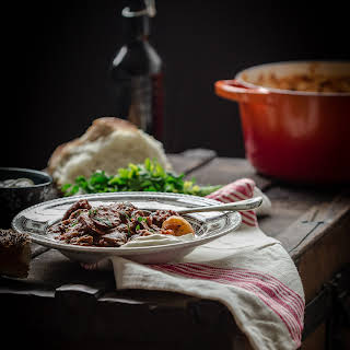 """Russian Sweet and Sour Beef Stew """"Solyanka""""."""