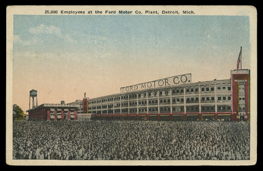 25,000 Employees at the Ford Motor Company Highland Park Plant, circa 1912