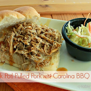 Crock Pot Pulled Pork with Carolina BBQ Sauce
