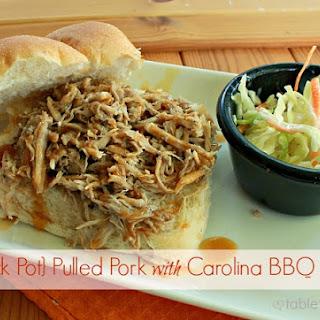 Crock Pot Pulled Pork with Carolina BBQ Sauce.