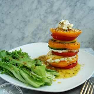 Heirloom Tomato, Zucchini And Goat Cheese Stack (vegetarian, Gluten-free)