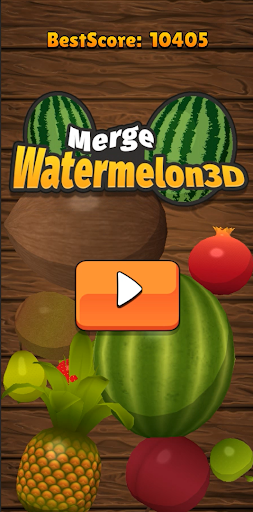 MergeWatermelon3D-Free screenshot 1