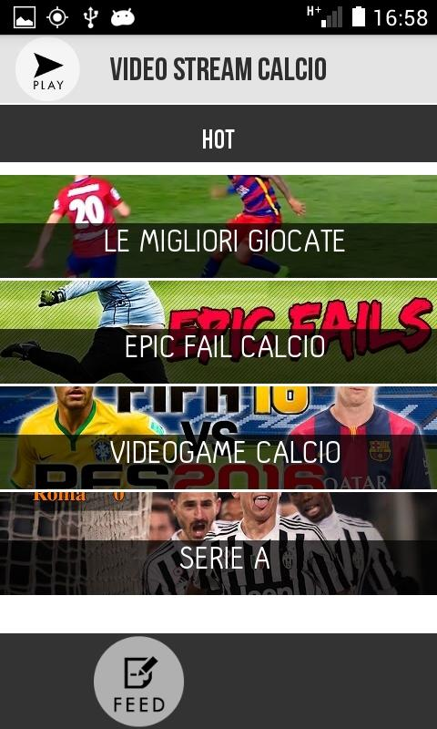 Video Stream Calcio- screenshot