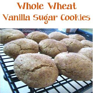 Whole Wheat Vanilla Sugar Cookies