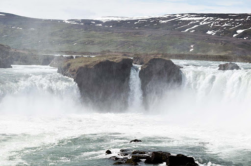 Godafoss (or Goðafoss) Falls, one of the most spectacular waterfalls in Iceland.