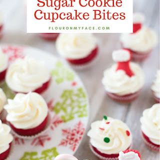 Holiday Sugar Cookie Cupcake Bites.