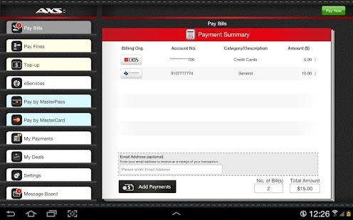 AXS Payment- screenshot thumbnail