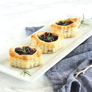 Wild Blueberry and Brie Puff Pastry Bites.