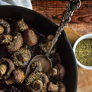 Easy Herb De Provence Roasted Mushrooms.