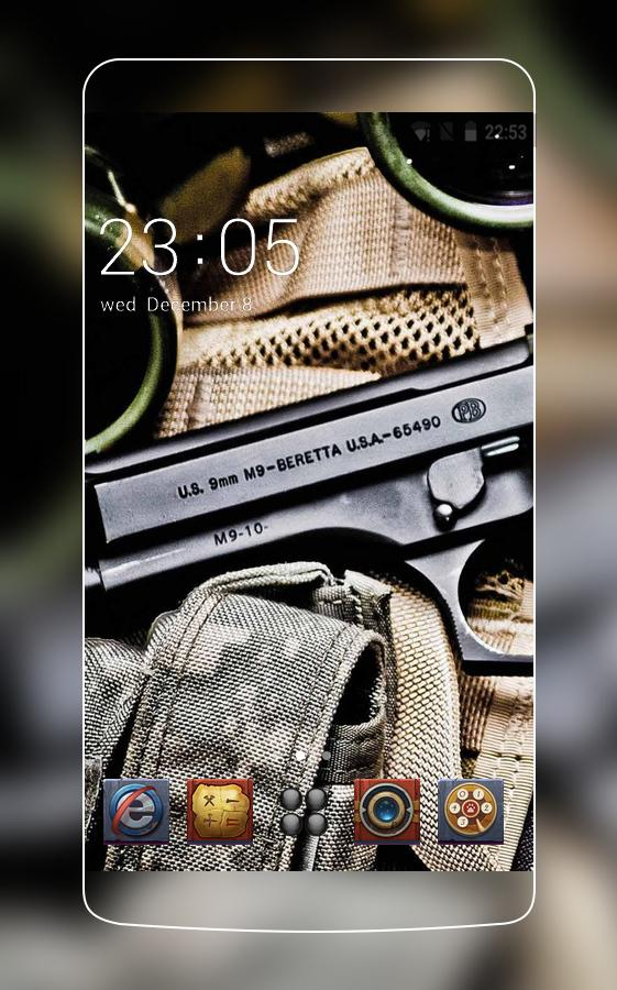 Cool Gun theme for  C Launcher- screenshot