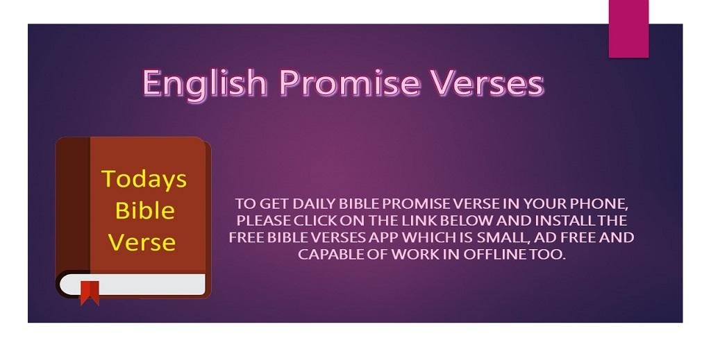 Download English Promise Verses - Bible Verses Daily Alert