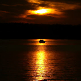 Solitude on the water by Colleen Rohrbaugh - Landscapes Waterscapes ( sunsets, waterscapes,  )