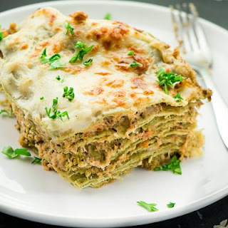 CHICKEN LASAGNA WITH BROCCOLI