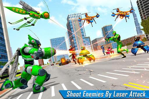 Mosquito Robot Car Game - Transforming Robot Games apktreat screenshots 1