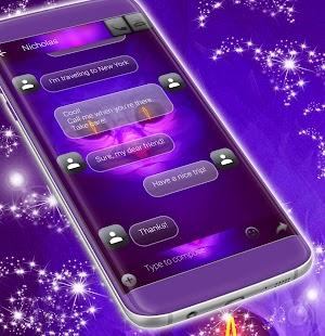 Cute Neon Cat SMS Téma - náhled