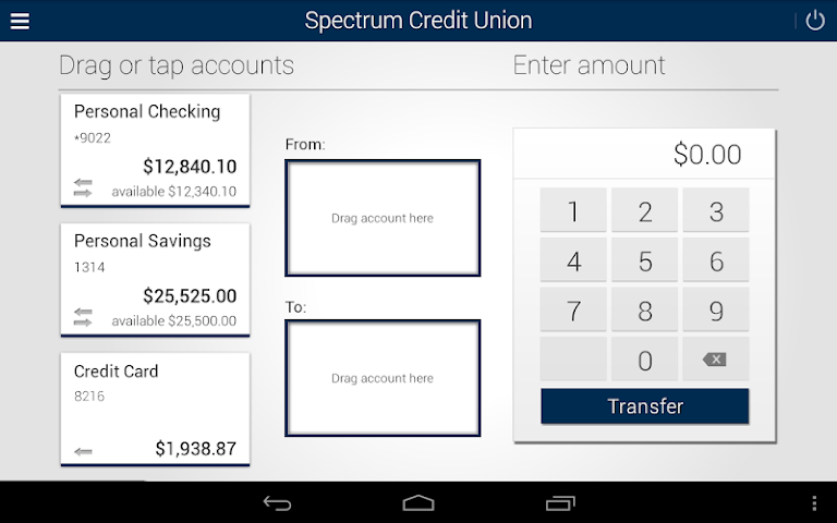 android Spectrum CU Mobile Banking Screenshot 12