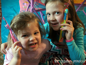 Photo: The girls LOVED the new toothbrushes!