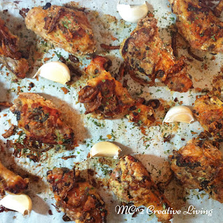 Garlic and Fried Onion Chicken Wings.
