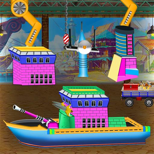 Navy Fleet Ship Factory: Boat Builder & Maker Game