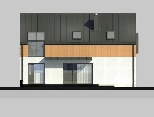 LIM House 02 - Elewacja tylna