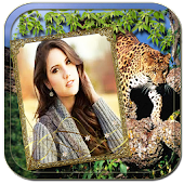 Wild animal photo frame effect