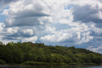 Photo: wisconsin river. the view from prairie du sac last weekend. two bald eagles were playing tag across the river but i'm afraid my 200mm lens wasn't powerful enough to capture much detail.  #naturephotography  #natureartthursday