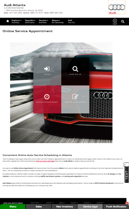 Audi Atlanta- screenshot