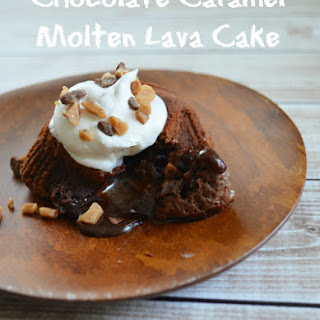 Chocolate Caramel Molten Lava Cake Inspired by The Croods