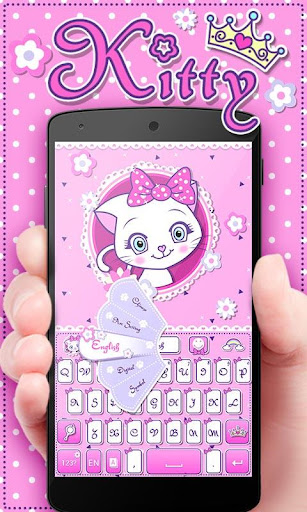 Kitty GO Keyboard Theme