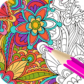 Adult Coloring Book:Garden