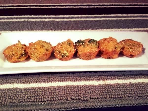Broccoli And Cheddar Quinoa Bites