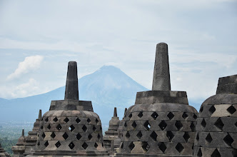 Photo: Mr Merapi in the background