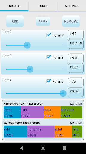 aparted ( sd card partition ) screenshot 1