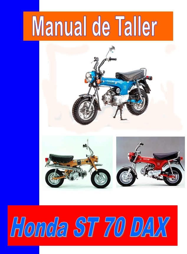 Honda ST 70 DAX-manual-taller-despiece-mecanica